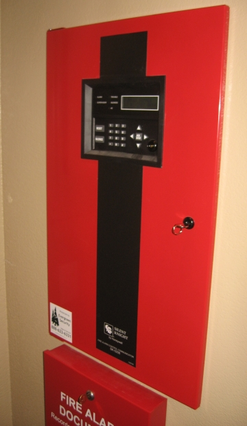 Silent Knight fire alarm panel
